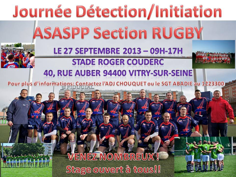 Journée Intiation Rugby ASASPP