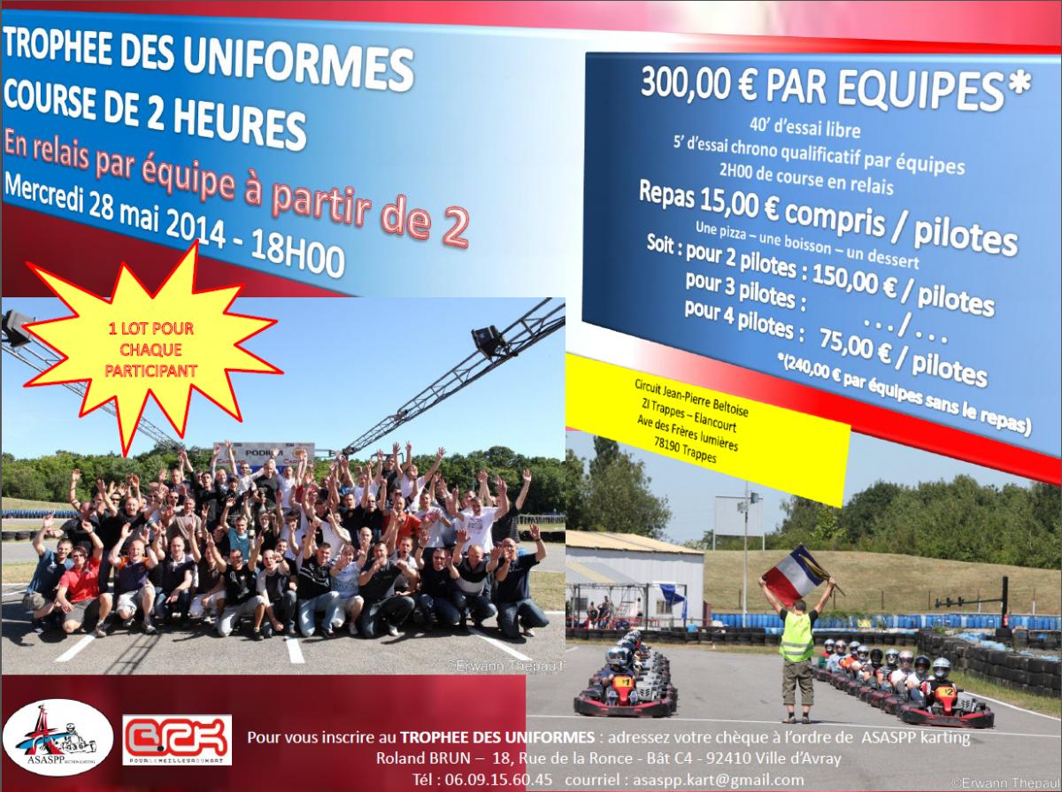 Trophée des uniformes de la section Karting le 28 mai 2014